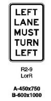 Left Lane Must Turn Left